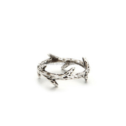Crown of Thorns Charms Thorn Ring Silver Twig Ring Branch Ring,Midi Knuckle Ring Gift Accessory 15mm Dia,anillo de espinas