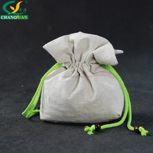 beatiful drawstring linen storage bag for gift
