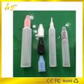 Caliente venta 10 ml plástico e líquido botella unicornio y forma de la pluma con tapa a prueba de niños de la fábrica de China