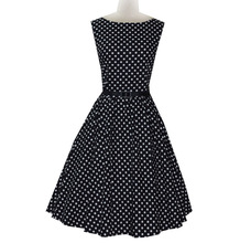 popular search Vintage Rockabilly Polka Dot Retro Swing 50s 60s pinup Housewife Party Dress in 5 colors