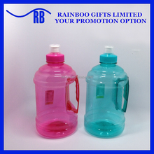 Hot selling Logo printed BPA free 1000ml clear plastic water jug with side handle