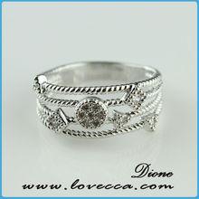 2015 New arrival !!! lucky single stone finger diamond ring