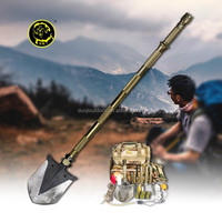 2015 OUTDOOR portable car emergency tool kit WITH camp shovel axe saw auto emergency flashlight