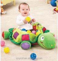 Plush Turtle Toy holding balls/Plush Turtle Toy Pit Baby Play Center/plush kids ball bags