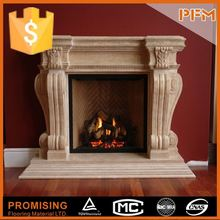 antique surface elegant outdoor gas fireplace