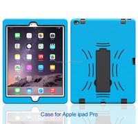 2015 Original 3 in 1 PC silicone belt clip hard case smart cover case for ipad pro 12.9 inch paypal accept