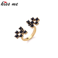 Classic Women Accessory Black Fashion Ring Inlay 2015 New Arrival