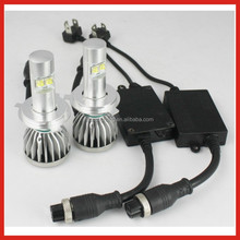Manufacture led headlight high/low h4 led light led headlight 45W 4800Lm ,high bright h4 led headlight bulb kit hi low beam