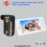 Single Home 2.4G Digital Wireless Video Intercom With Door Release