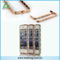 New product bling crystal diamond bumper metal case for iPhone 5, for iPhone 5s diamond phone bumper case