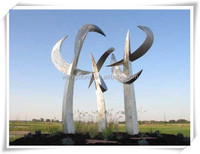 Large Temporary Decor Stainless Steel Sculpture With Origin Feature