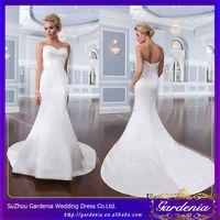 Mermaid Sweetheart Open Back Satin Court Train Wholesale Factory Price Gents Wedding Dresses