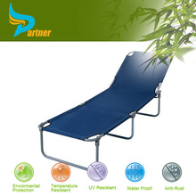 TLH-045 Hot Selling 3 Positions Reclining Aluminium Roof Wicker Folding Beach Lounge Chair
