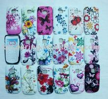 flowers TPU rubber case skin back cover for Nokia C3