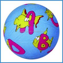 full printing custom logo rubber basketballs for kids