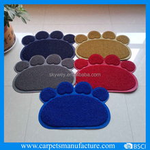 HOT SALE Pvc logo floor mat animal shape door mat