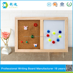 cork board and magnetic whiteboard