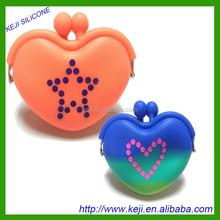 Heart shape mini coin purse/silicone rubber coin purse/cheap coin purse