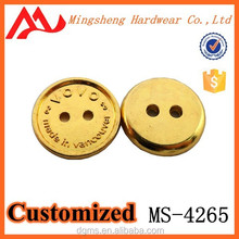 high quality fashion factory price large gold button