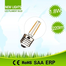 30000 hours non flickering hot selling ic driver 110lm/w g45 led filament bulb dimmable