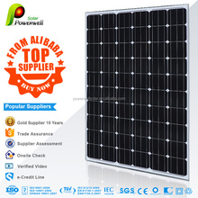 Powerwell Solar 260W Monocrystalline Silicon Solar Module With CE/IEC/TUV/ISO Approval Standard Solar Panel Wholesale