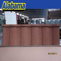 Coating Evenness durable colorful most popular popular chip coated metal roof tiles, coated steel tile roofing