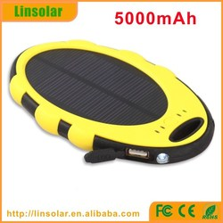2015 wholesale alibaba 5V 2A dual USB 5000mAh waterproof solar sun charger mobile for cell phones