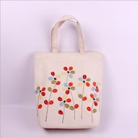The mori girl series' portable bag with small fresh flowers shop bag