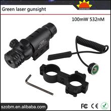 Gun Accessories 100mW 532nm Rilfe Scope Mount Tactical Green Laser Sight