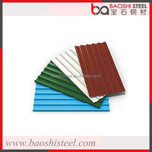 Baoshi Steel outdoor leak proof clear color coated corrugated metal roof canopy