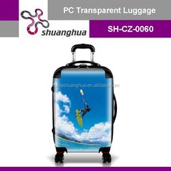 New Design Colorful Travelling hardside pc luggage