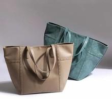 Fashion style lady tote bag korean suede handbags