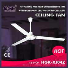 High Speed Small Motor Parts Ceiling Fans In White HGK-XJ04Z