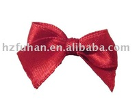 Garment satin ribbon bow