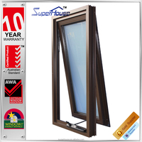 Latest Brown design exterior windows with Chinese Best workmanship