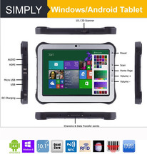 Simply T10 Win 8 quad core 1D/2D barcode scanner 10000mah windows 8 tablet with 3g sim card slot
