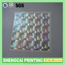 3D laser Hologram Sticker for promotion GZSC-HS014