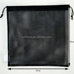 Durable mesh golf balls bag with drawstring /small drawstring mesh bag/Customized size mesh bags with string