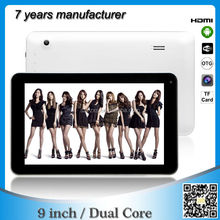 China Manufacturer 9 inch cheap tablet pc ATM7029 dual core ZXS-9-W