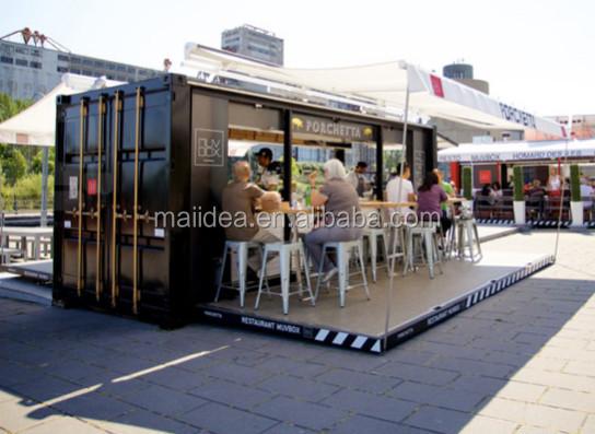 Free Designed Of Eco friendly Outdoor Coffee Kiosk Design