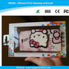 Japan wholsale cell phone case for iPhone 6 hello kitty printing leather case