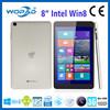 8 inch Intel Quad-Core 1280*800 IPS win 8 tablet PC support 3G nano SIM card