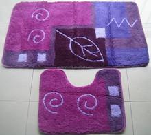 Hand Tufted lilac acrylic washable carpet rug