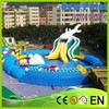 New Point 2015 new fashion commercial inflatable water slide with pool