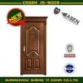 الماهوغوني الكلاسيكية الخشبية الداخلية الباب