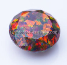 Synthetic Opal diamond cut / Round Brilliant Cut