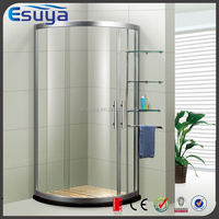 China Hot Sale Cheap Free Standing 2 Sided Sliding Tempered Glass Shower Enclosure