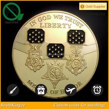Black enamel in God we trust memorable liberty coin