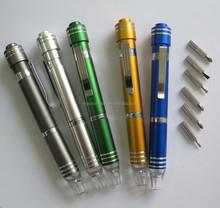 Aluminum pen mini tool with light