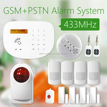 Classsic PSTN+GSM Home wireless alarm system with 868mhz support for sweden,Finland,Norway market